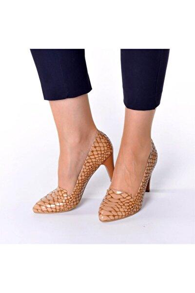 1952 Taba Anakonda Büyük Numara Bayan Ayakkabısı