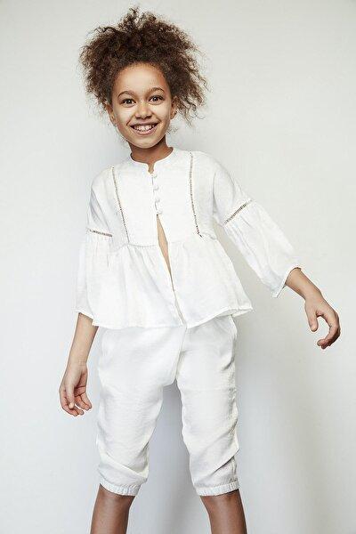 Kız Çocuk Beyaz Ceket 19ss1tj4709