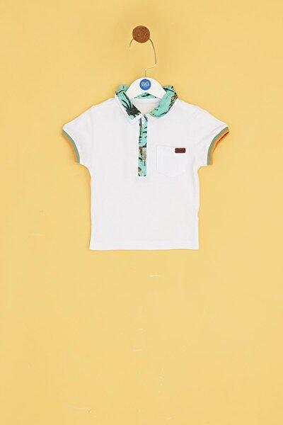 Erkek Bebek Beyaz T-shirt