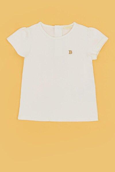 Kız Bebek Ekru T-shirt