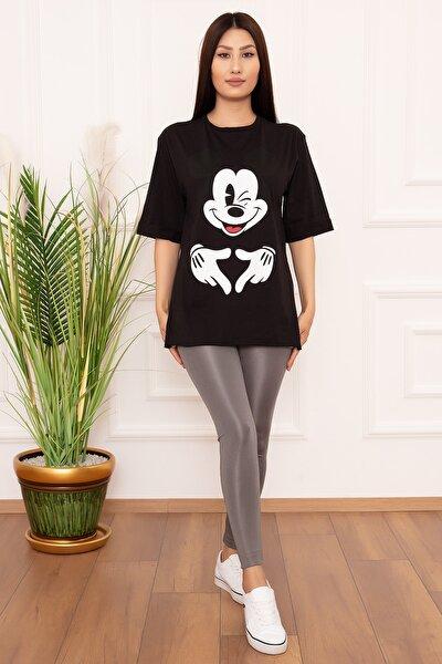Bayan Micky El Baskılı 1218-2 T-shirt