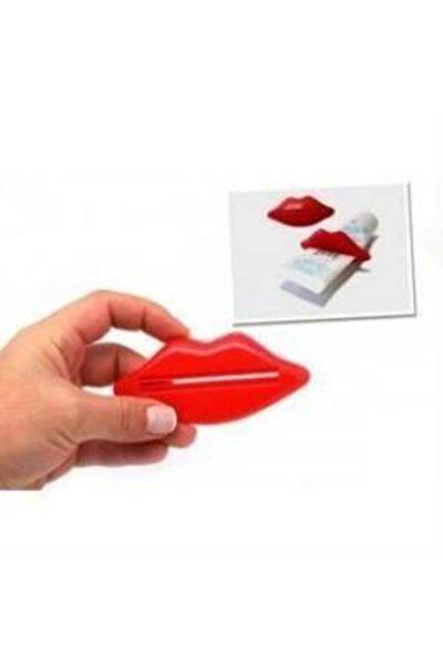 Pratik Diş Macunu Tüpü Sıkma Aparatı Dudak Şeklinde 2'li Plastik
