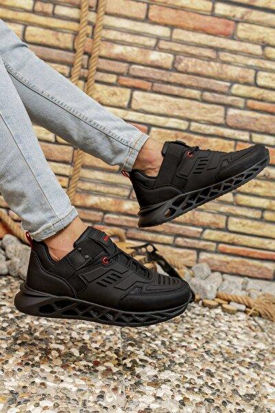 Siyah Kırmızı Erkek Sneaker 00122021