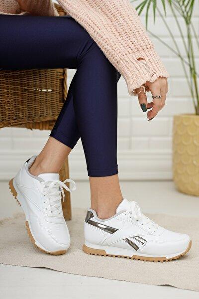 Kadın Sneaker Md1053-101-0001 Beyaz-Platin