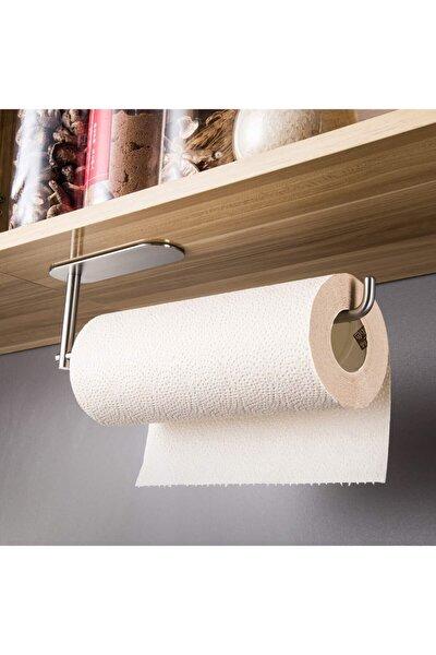 Paslanmaz Çelik Kağıt Havlu Askılığı / Havluluk - Yapışkanlı Sistem - Inox - Model: Berlin