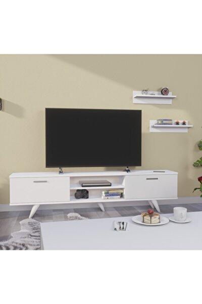 Tv Sehpası - Tv Ünitesi 180cm Beyaz