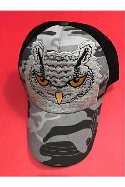 Baykuş Işlemeli Fileli Spor Unisex Şapka Hayvan Figürlü Şapka