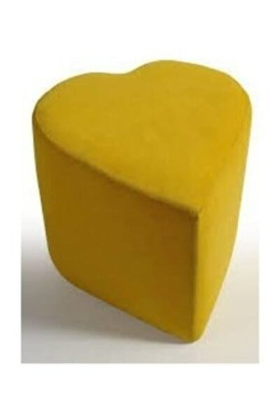 Kalpli Silinebilir Kumaş Puf Sarı
