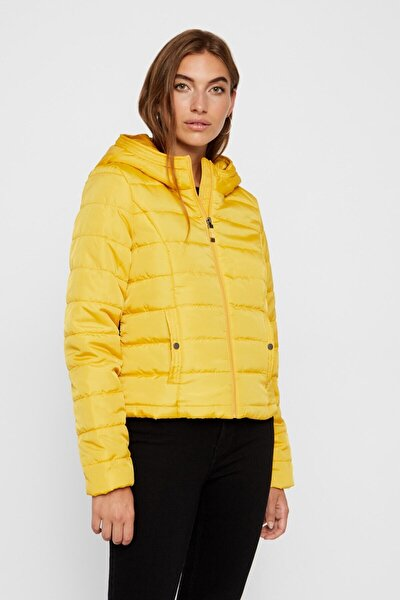 Kadın Sarı Kapüşonlu Mont 10214906 Vmsımone 10214906