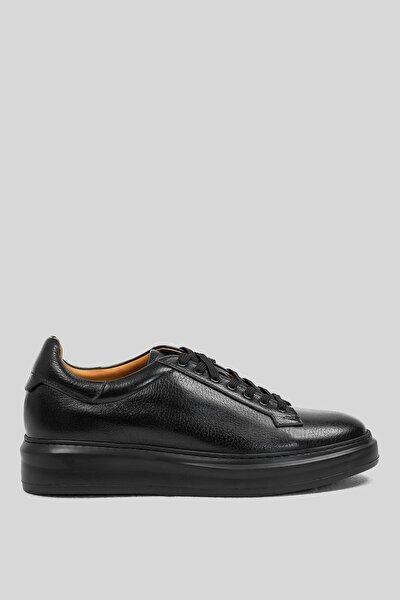 Plaın Deri Sneaker Siyah