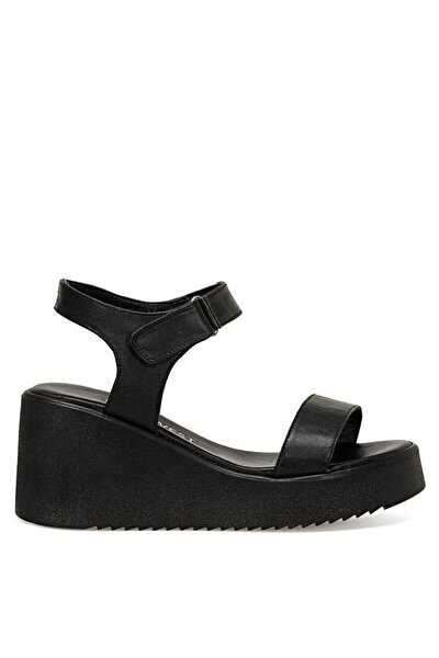 KALAN Siyah Kadın Dolgu Topuklu Sandalet 100526765