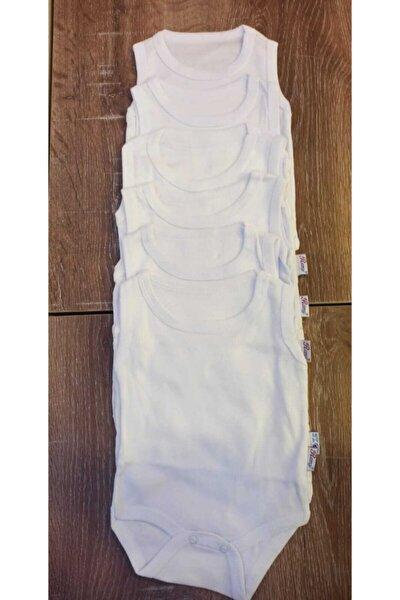 Erkek Kız Unisex Bebek Çocuk Çıtçıtlı Çıt Çıtlı Badi Body Zıbın 6'lı Paket
