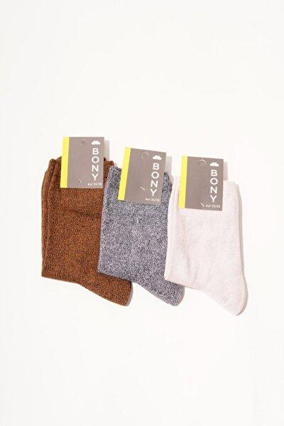 3 Lü Paket Uppsala Kadın Soket Çorap - Mix