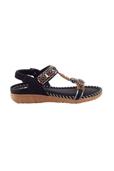 150-10 Siyah Kadın Sandalet