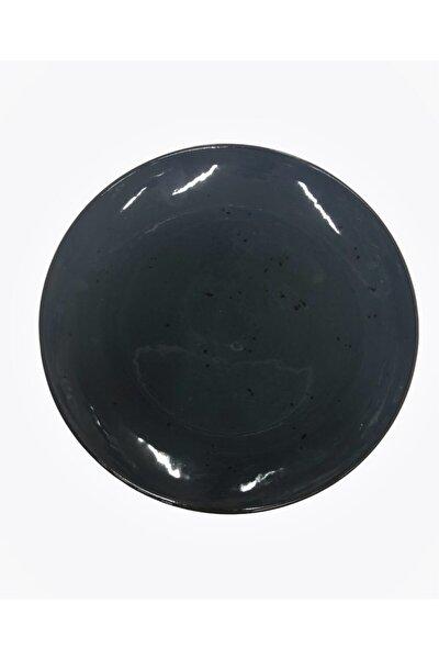 24cm Reaktif Servis Tabağı Siyah Renk