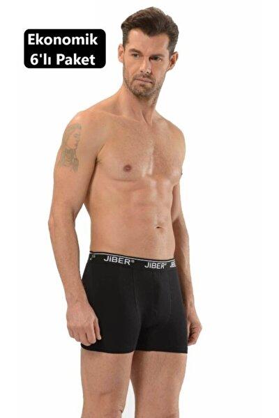 6 Adet 156 Erkek Stretch Boxer Eko Paket - Siyah