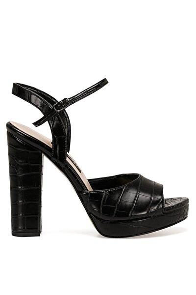 CENDO Siyah Kadın Topuklu Sandalet 100526407