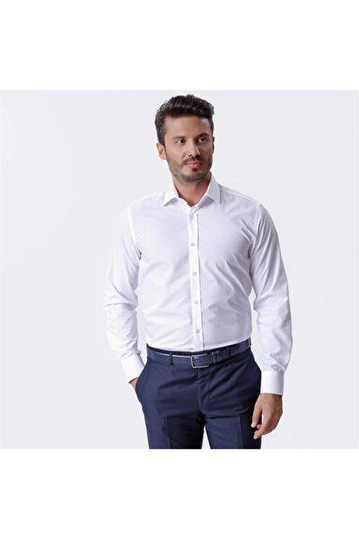 Beyaz Uzun Kollu Klasik Erkek Gömlek