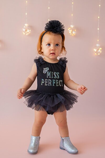 Siyah Kız Çocuk Tulum Miss Perfect