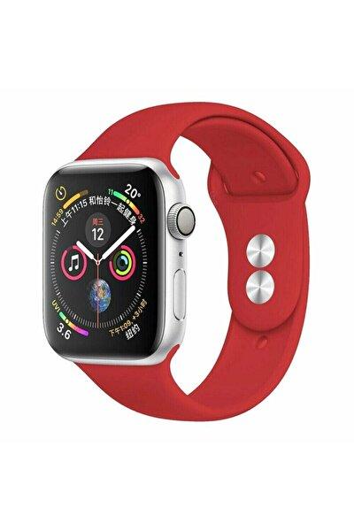 Apple Watch 42 44 Mm Silikon Kordon Kırmızı