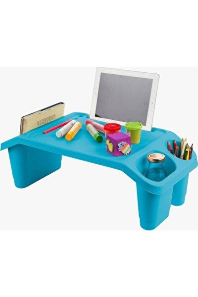 Koltuk Kanepe Üstü Öğrenci Ders Çalışma Kahvaltı Laptop Sehpası Mavi
