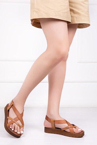 Hakiki Deri Taba Kadın Deri Sandalet Rma-3166