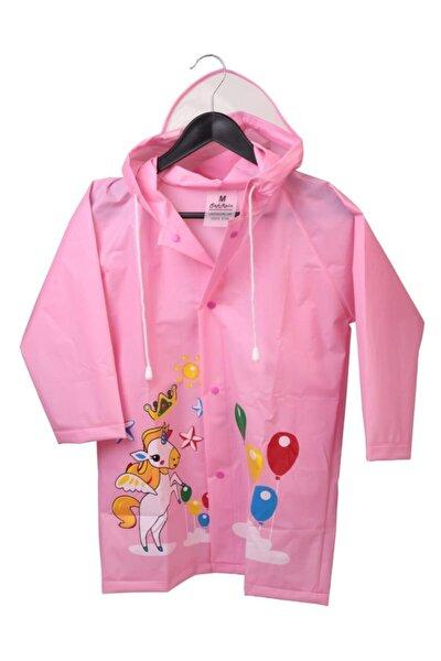 Kız Çocuk Yağmurluğu Pembe Renk