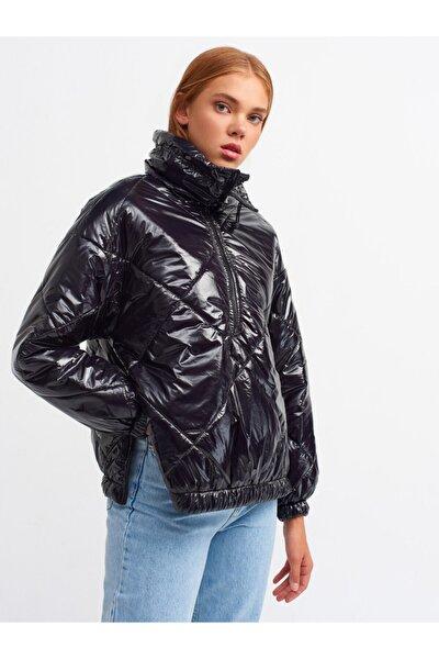 6855 Şişme Ceket-siyah