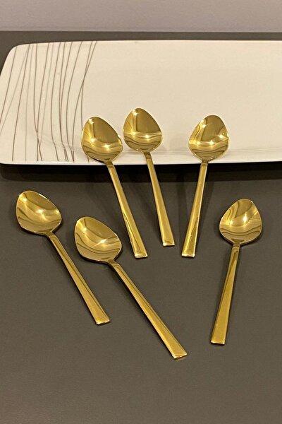 Titanyum Gold Çay Kaşığı 6 Adet