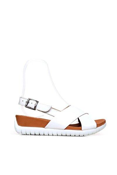 Shoes Önden Açık Hakiki Deri Kadın Düz Sandalet 9n7110