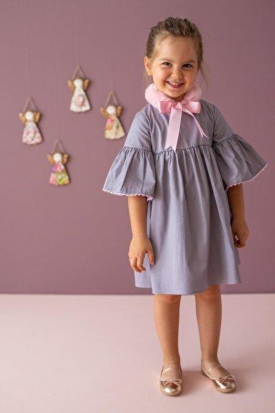 Gri Kız Çocuk Elbise Lillian