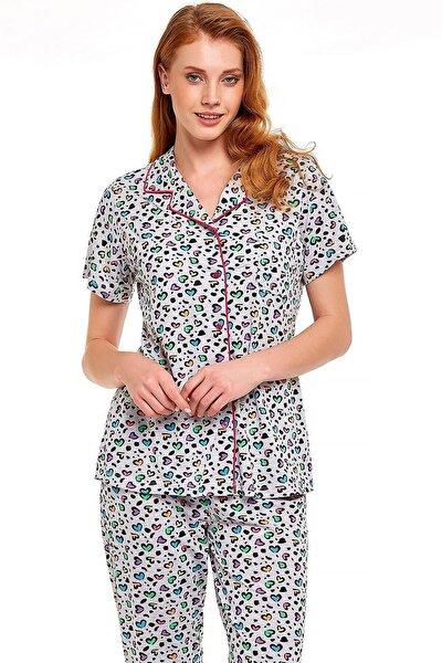 30210 Irene Önden Düğmeli Pijama Takımı