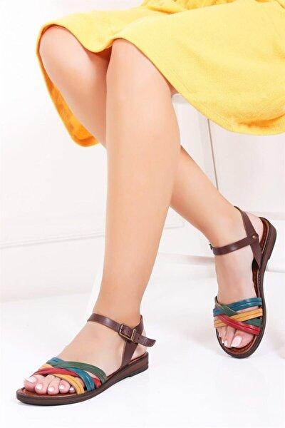 Hakiki Deri Multi-2 Kadın Deri Sandalet Dp-0013