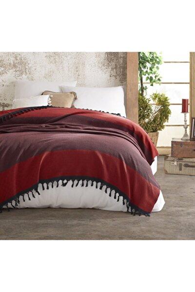 Nefes Kırmızı Peştamal Pike Ve Yatak Örtüsü