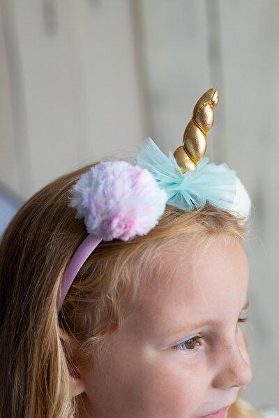 Renkli Kız Çocuk Taç Unicorn Pommy