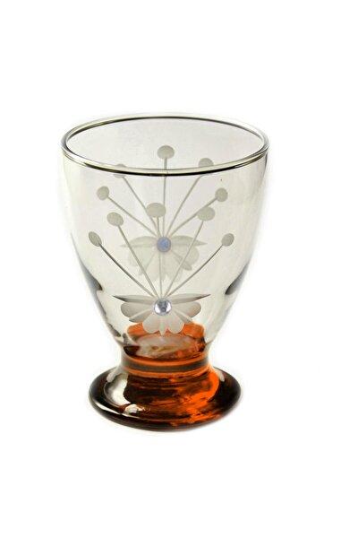 41011 Çın Çın 12 Adet (Turuncu Frezya Taşlı) Su-meşrubat Bardağ