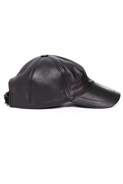 Siyah Deri Şapka