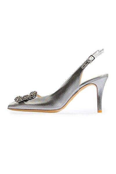 Bronz Kare Tokalı Abiye Ayakkabı