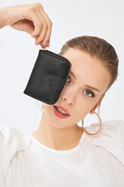 Kadın Basic Mini Cüzdan Floater Desen Siyah (8025s) 213017