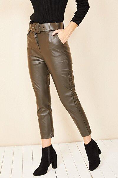 Havuç Model Deri Pantolon