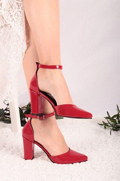 Joyce Kırmızı Rugan Topuklu Ayakkabı