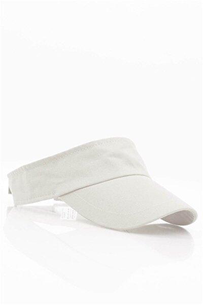 Kadın Vizör Kasket Siperlik Beyaz Tenisci Şapka