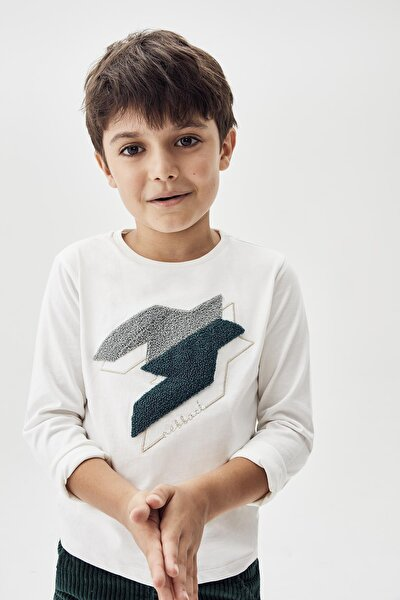 Erkek Çocuk Beyaz T-shirt 20fw0nb3520