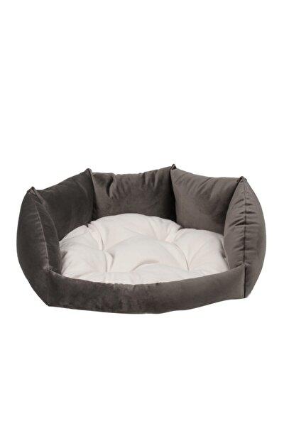 Milano Model Gri Tay Tüyü Kedi - Köpek Yatakları