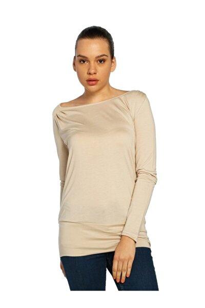 Kadın Taş Geniş Yaka Bluz - Bga056359