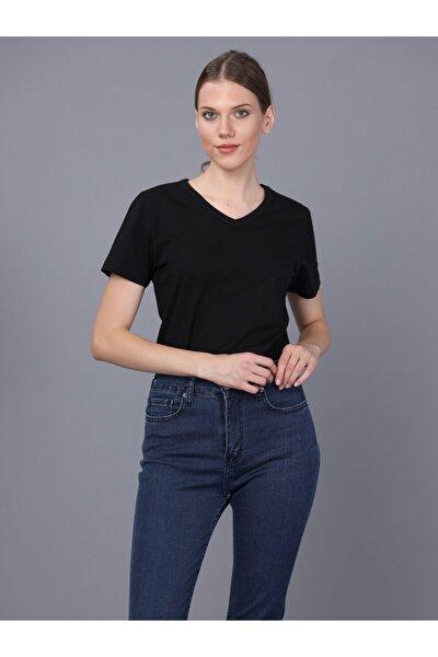Bayan V Yaka T-shirt