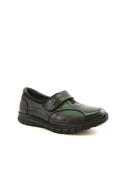 29445 Siyah Hakiki Deri Bayan Ayakkabı