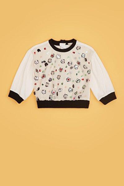 Kız Bebek Ekru S-shirt 20fw0bg2412