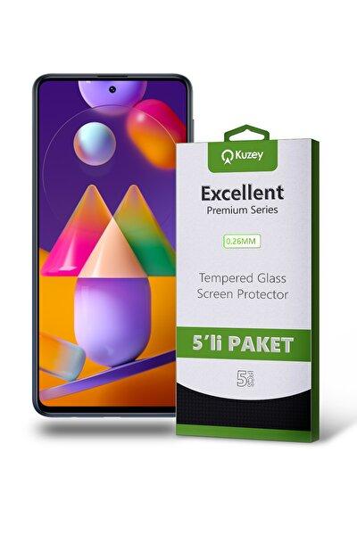 Samsung Galaxy M31s Temperli Ekran Koruyucu Kırılmaz Cam 5'li Paket