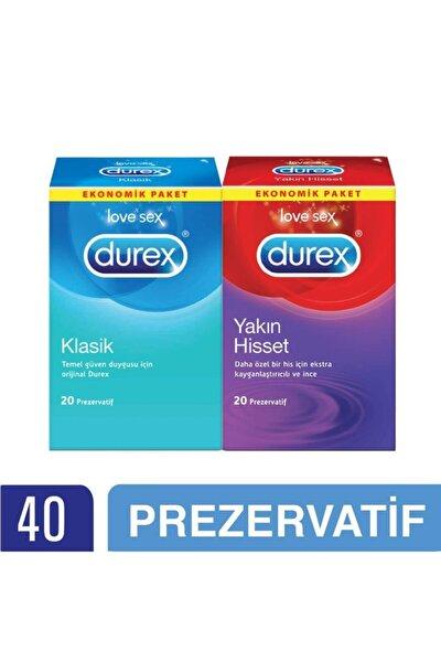 Yakın Hisset + Klasik Prezervatif 40'lı Ekonomik Paket